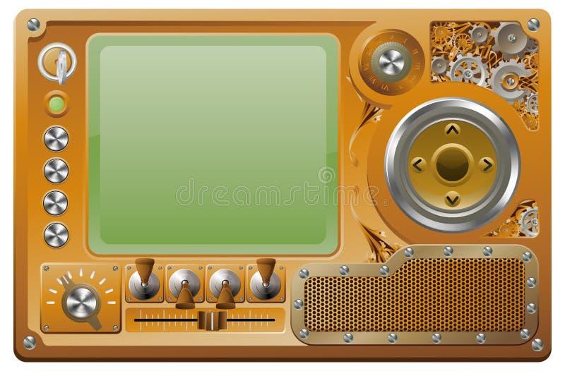 Reproductor multimedia del grunge de Steampunk stock de ilustración