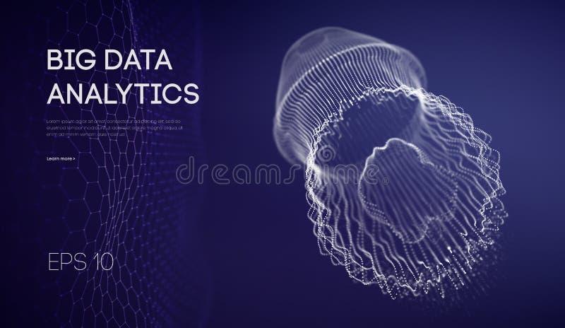 Reprodukować sieci badanie Sieć systemów eksperymenty Jellyfish centrum danych przypadkowy networking 10 eps ilustracja wektor