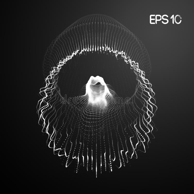Reprodukowa? sieci badanie Sie? system?w eksperymenty Jellyfish centrum danych przypadkowy networking 10 eps royalty ilustracja