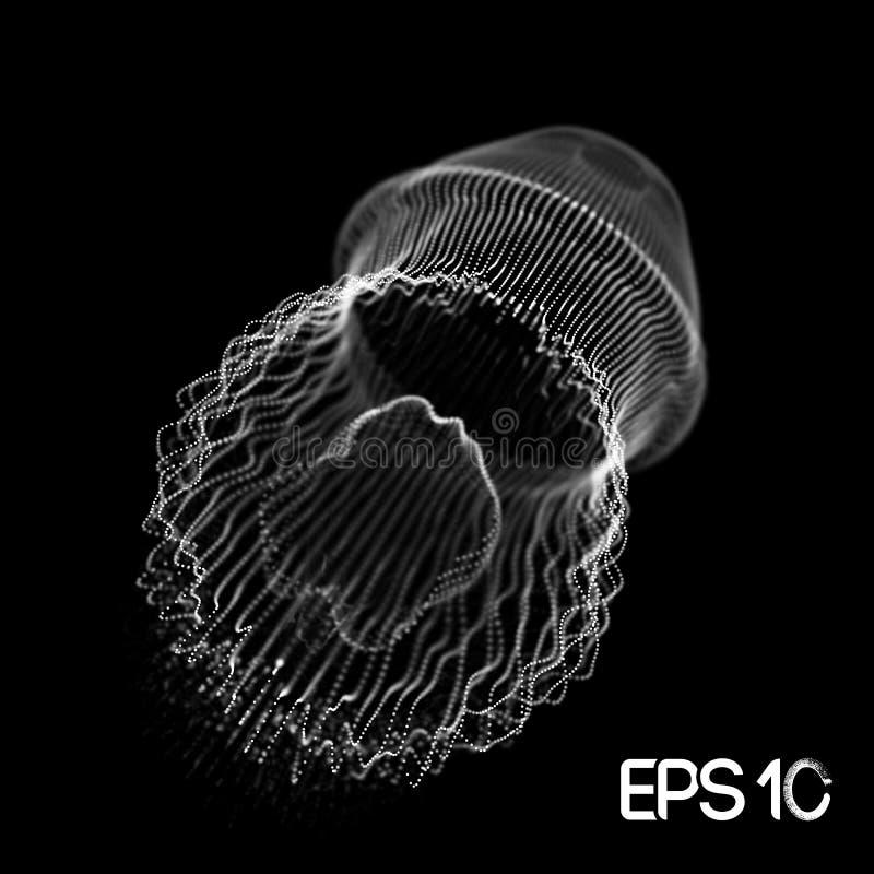 Reprodukowa? sieci badanie Sie? system?w eksperymenty Jellyfish centrum danych przypadkowy networking 10 eps ilustracja wektor