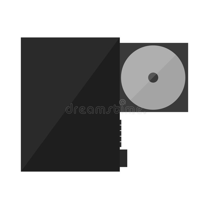 Reprodutor de DVD do CD ilustração do vetor