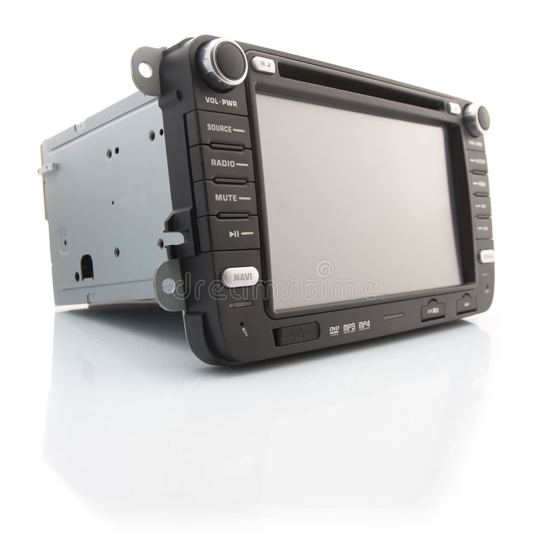 Reprodutor de DVD para o carro foto de stock royalty free
