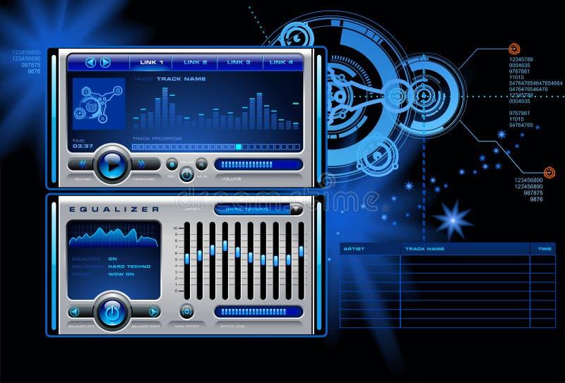 Reprodutor multimedia ilustração royalty free