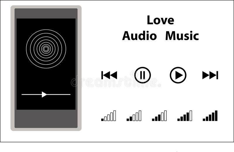 Reprodutor multimedia com experiência audio ilustração stock