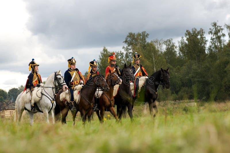 Repromulgación de la batalla de Borodino imagen de archivo libre de regalías
