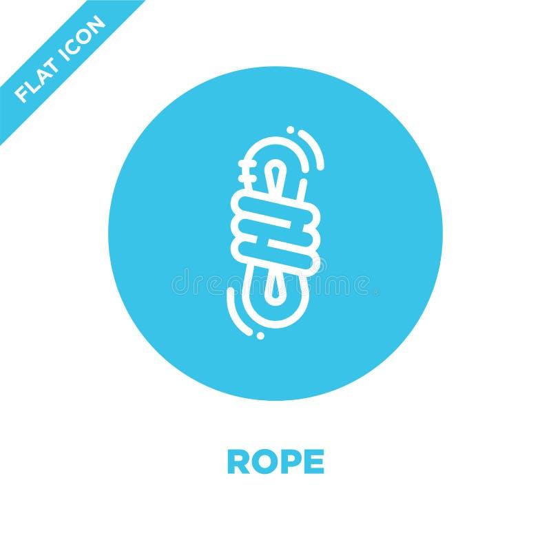 repsymbolsvektor från campa samling Tunn linje illustration för vektor för repöversiktssymbol Linjärt symbol för bruk på rengörin royaltyfri illustrationer