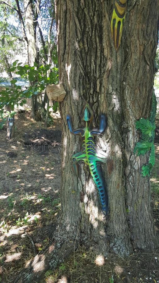 Reptil-Baum stockbild