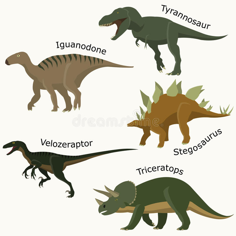 Reptil jurásico determinado ilustración del vector