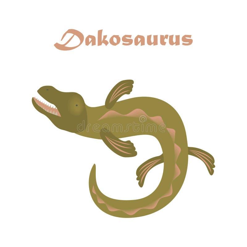 Reptil jurásico Ejemplo del vector del dinosaurio ilustración del vector