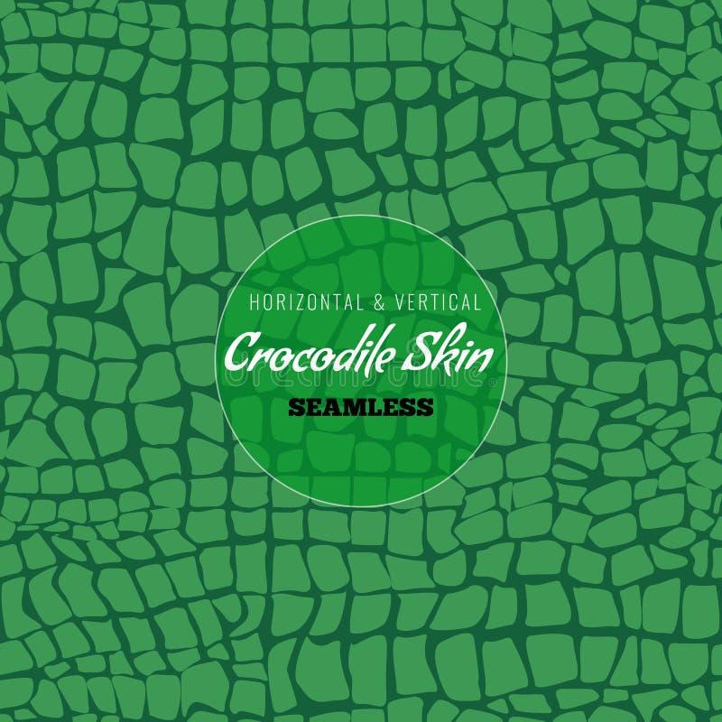 Free Reptile Alligator Skin Seamless Pattern. Crocodile Skin Texture For Textile Design. Vector Illustration. Stock Photos - 142281143