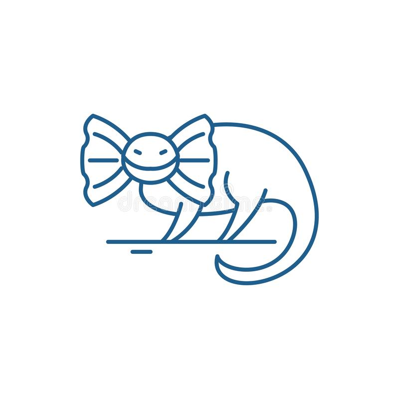 Reptile line icon concept. Reptile flat  vector symbol, sign, outline illustration. vector illustration