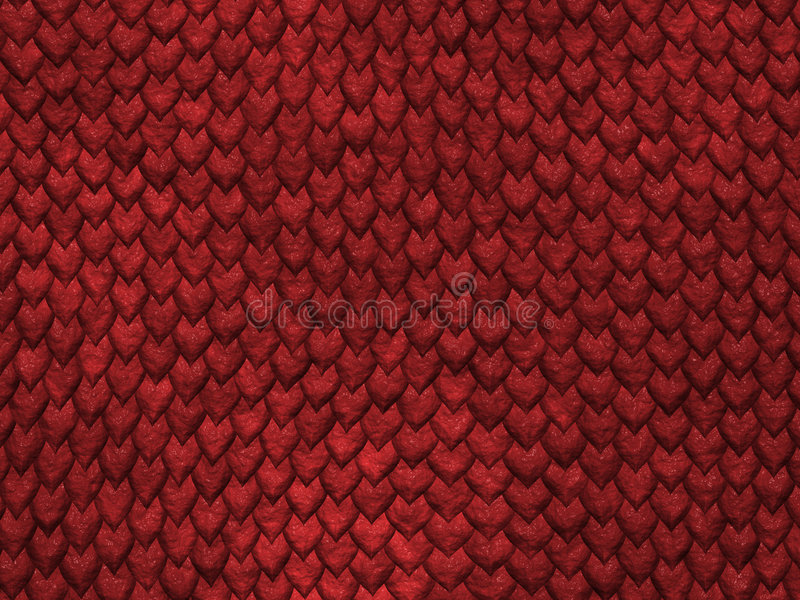 Reptile texture - red scales royalty free stock image