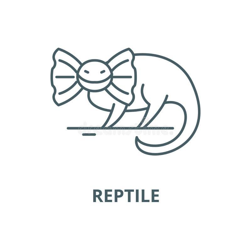 Reptile vector line icon, linear concept, outline sign, symbol vector illustration