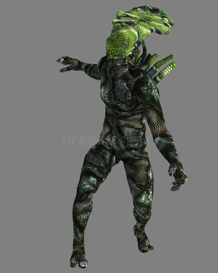 Free Reptilian Alien, 3D CG Royalty Free Stock Images - 54729809
