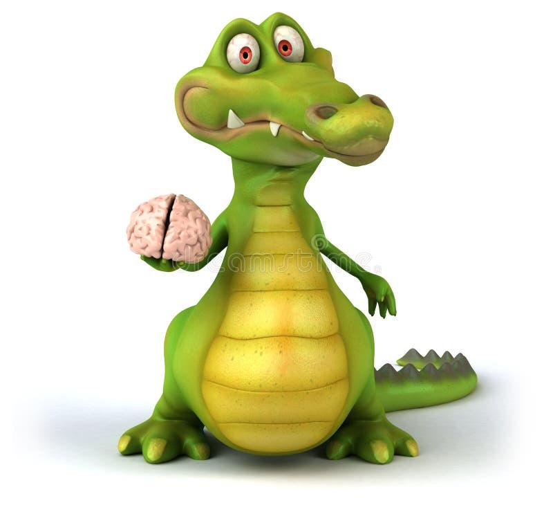 Reptilian hersenen royalty-vrije illustratie
