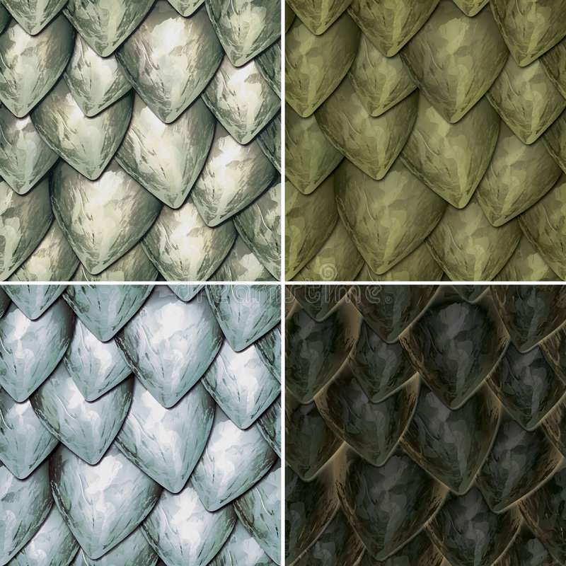Reptilian Scales. Repeating Seamless Pattern of Reptile Scales