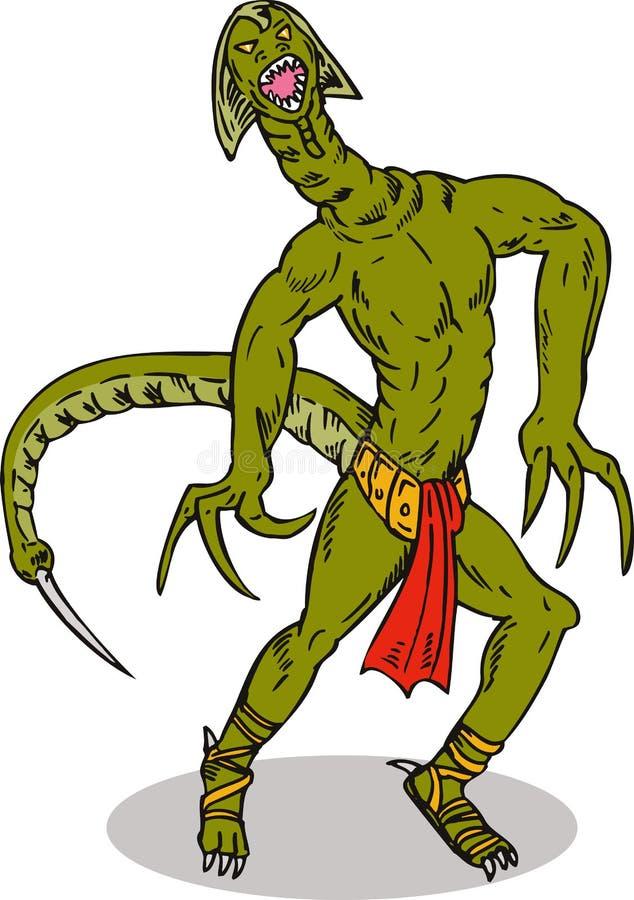 Download Reptilian super villain stock illustration. Illustration of tail - 6581054