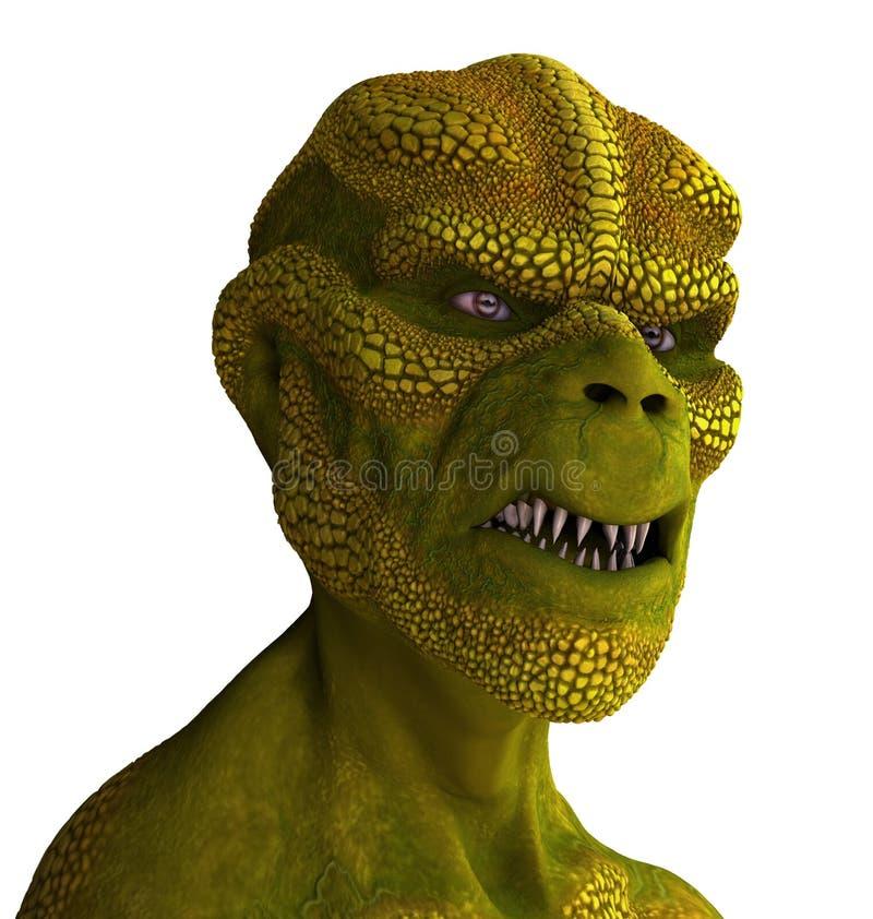 Reptilian Vreemd Portret stock illustratie