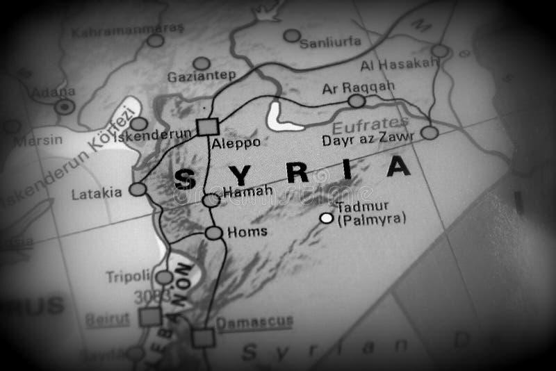 Repubblica araba siriana - mappa di conflitto immagine stock libera da diritti
