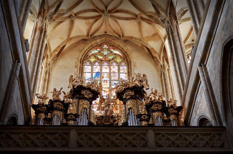 Repubblica ceca Chiesa del ` s della st Barbara di Kutna Hora 14 giugno 2016 fotografia stock