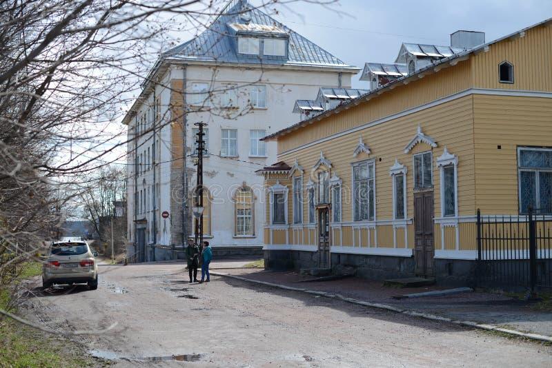Repubblica della città di Sortavala di Nord russo della Carelia fotografie stock libere da diritti