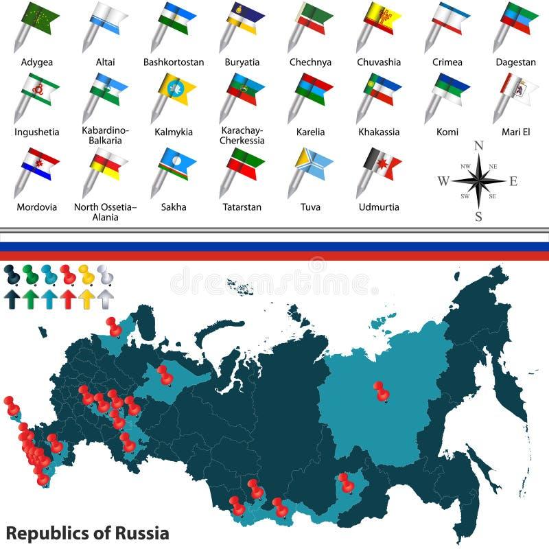 Repubblica di Russia illustrazione vettoriale