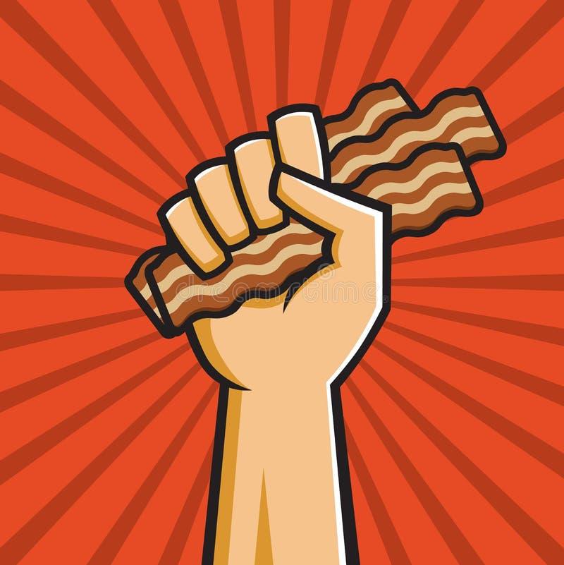 Repubblica popolare di pancetta affumicata fotografia stock libera da diritti
