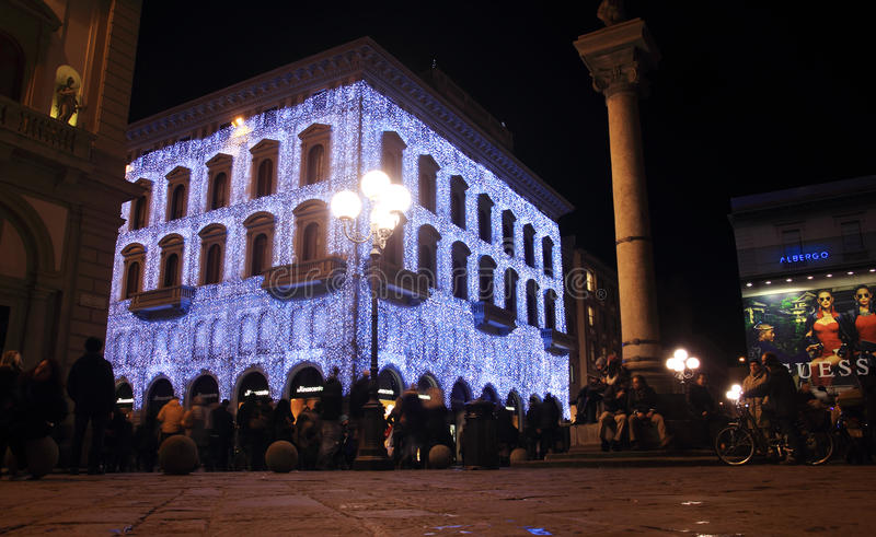 Repubblica square night life, Florence royalty free stock photos