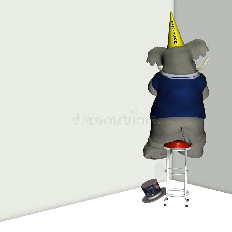 Repubblicano 2 del Dunce illustrazione di stock
