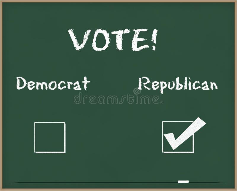 Repubblicano di voto fotografie stock