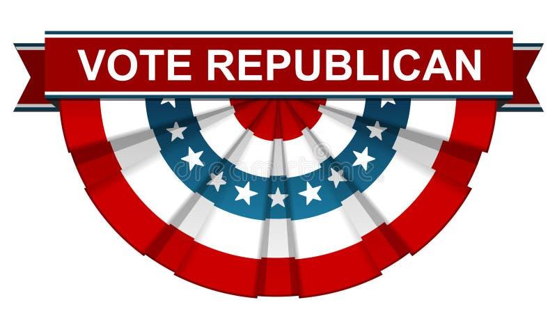 Repubblicano di voto illustrazione vettoriale