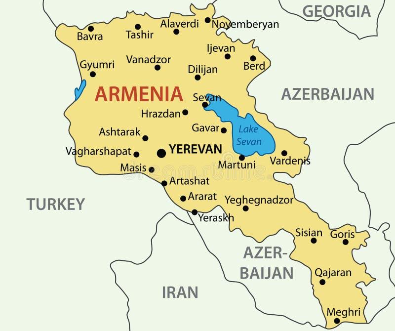 Republic Of Armenia Map Vector Stock Vector Illustration of