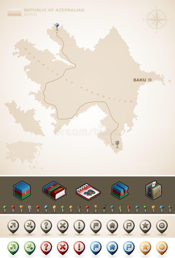 Download Republic of Azerbaijan stock vector. Illustration of symbols - 26874838