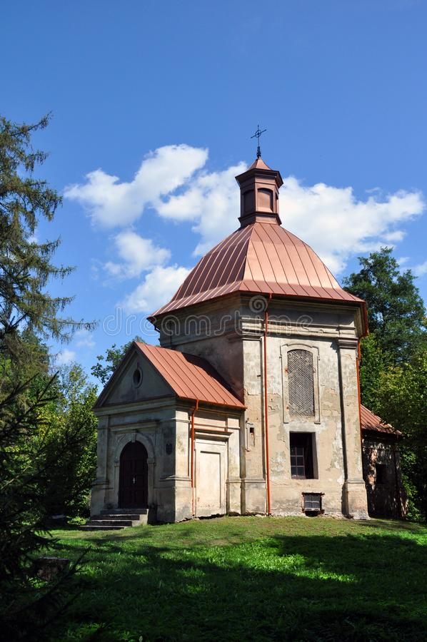 Republic of Belarus, Pinsky district, Duboe village. Chapel of the Exaltation of the Cross. Catholic royalty free stock photo