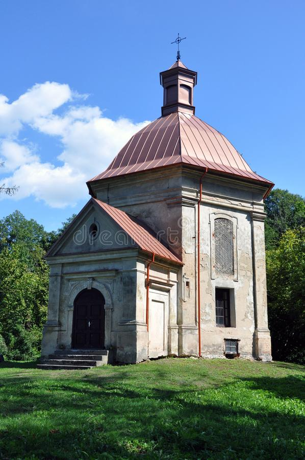 Republic of Belarus, Pinsky district, Duboe village. Chapel of the Exaltation of the Cross. Catholic stock image