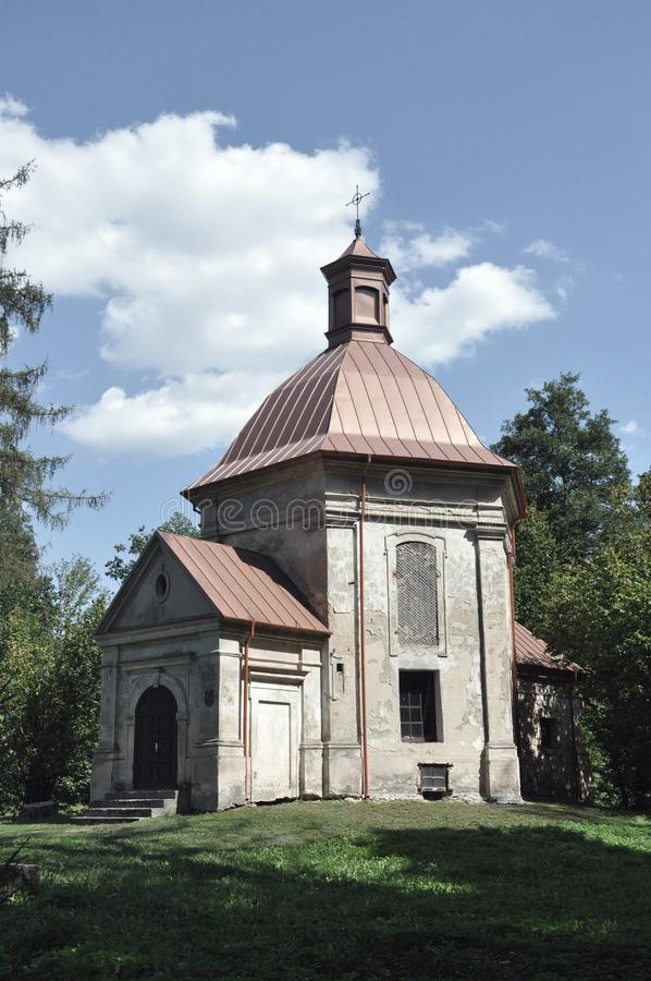 Republic of Belarus, Pinsky district, Duboe village. Chapel of the Exaltation of the Cross. Catholic stock photos