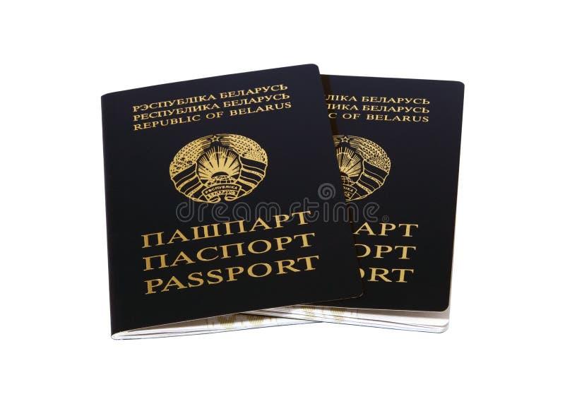 Republic Of Belarus um pares de passaportes fotografia de stock