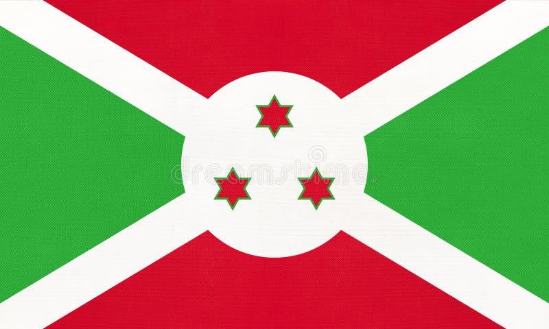 Republic of Burundi national fabric flag, textile background. Symbol of world African country vector illustration