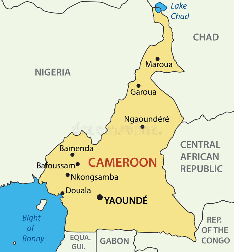 Republic Of Cameroon Map Vector Stock Vector Illustration of