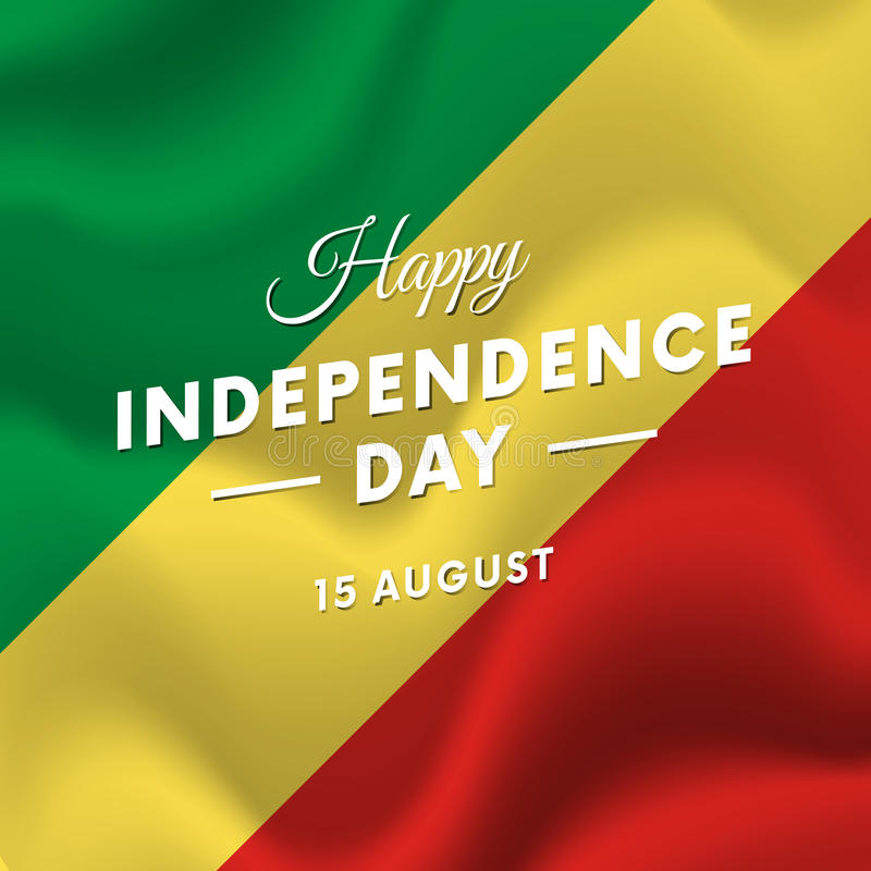 Republic Of The Congo Independence Day August Waving Flag - Congo independence day