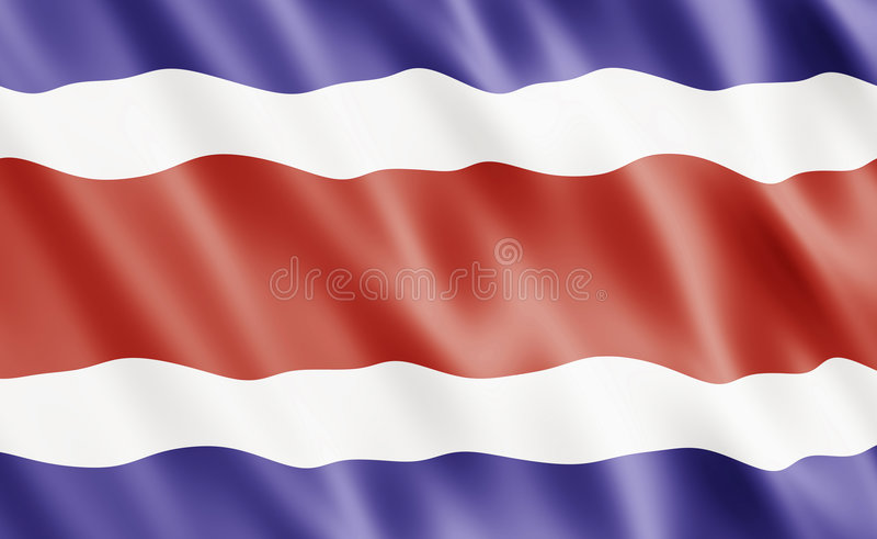 Download Republic Of Costa Rica Flag Stock Illustration - Illustration of nobody, rica: 7956611