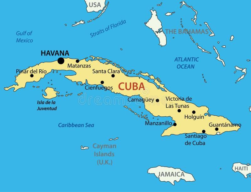 Republic of Cuba - map - vector stock illustration
