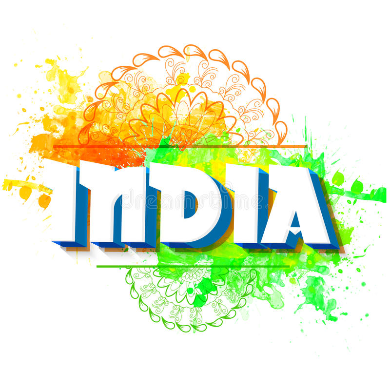 Republic Day celebration Poster, Banner design. 3D Text India on National Flag colors floral background, Beautiful Poster, Banner or Flyer for Indian Republic vector illustration