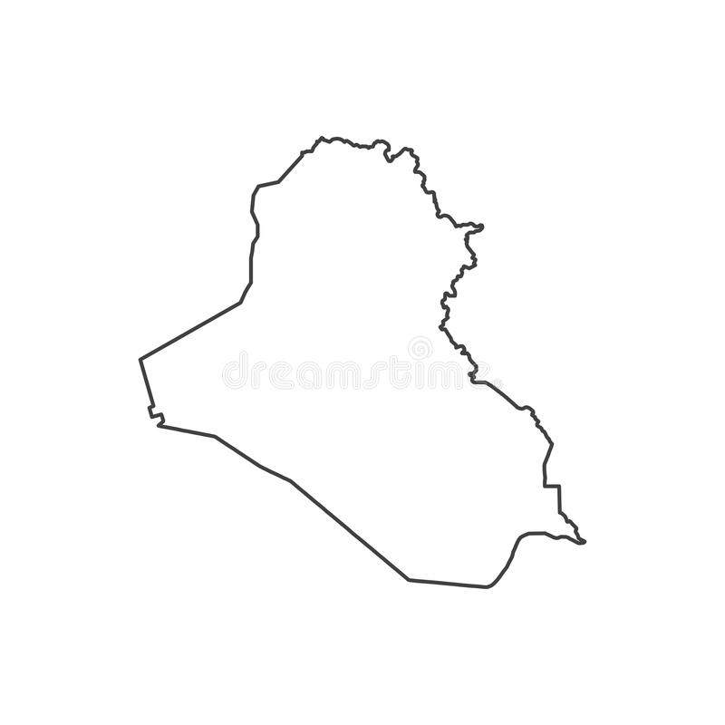 Republic Of Iraq Map Silhouette Stock Vector Illustration of