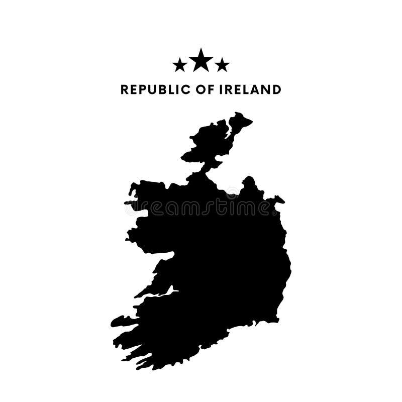 Republic- Of Irelandkarte Auch im corel abgehobenen Betrag vektor abbildung