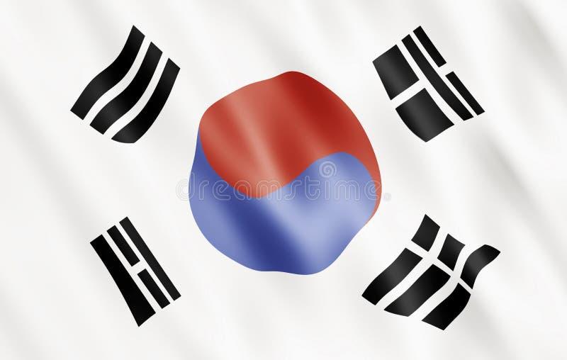 Download Republic of Korea Flag stock illustration. Illustration of countries - 7958052