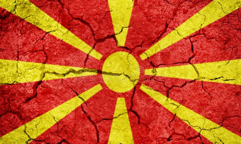 Republic of Macedonia flag stock photo