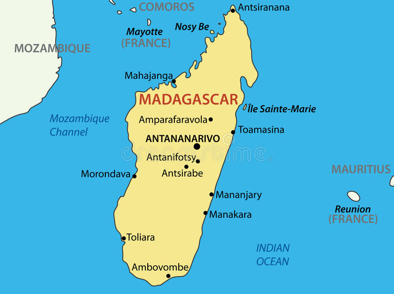 Republic Of Madagascar Vector Map Of Country Stock Vector