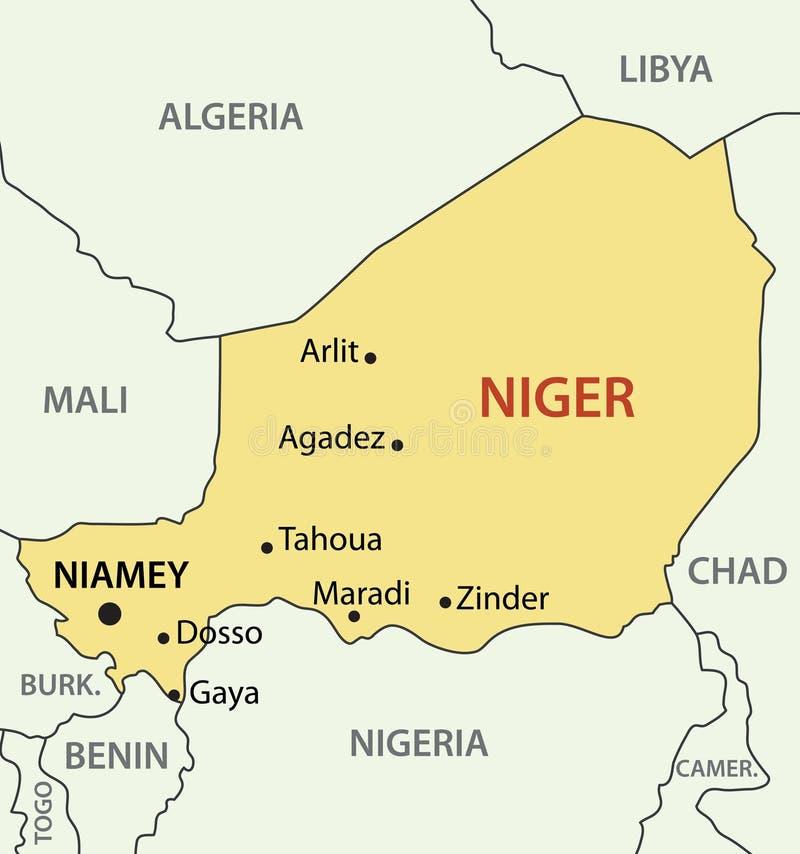 Republic Of Niger Vector Map Stock Vector Illustration of vector