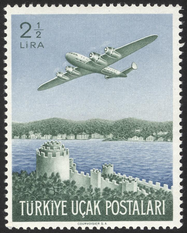 Free Republic Of Turkey Historical Stamp. A Postage Stamp Printed In Republic Of Turkey. Stock Photo - 185873120